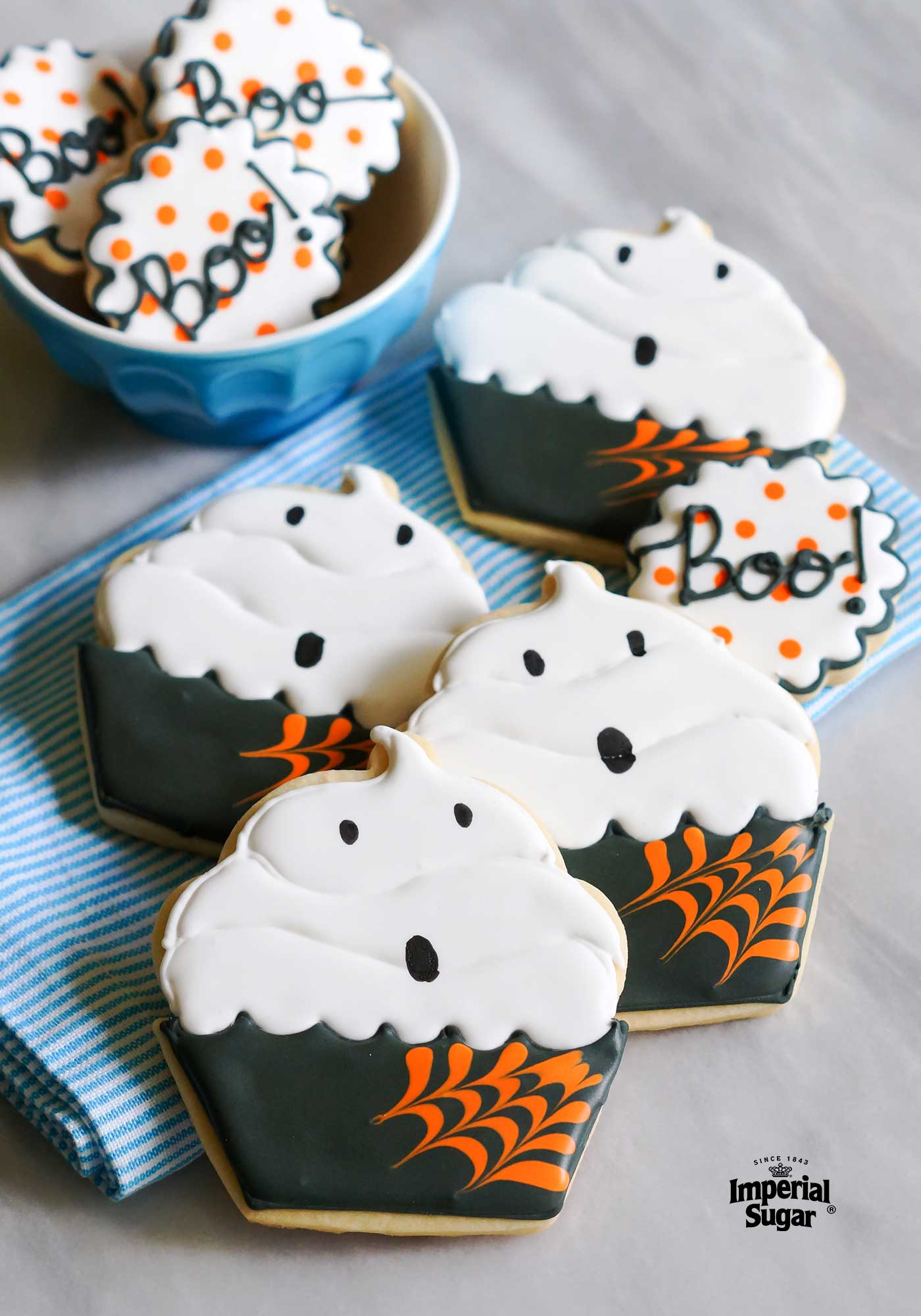ghost cupcake cookie