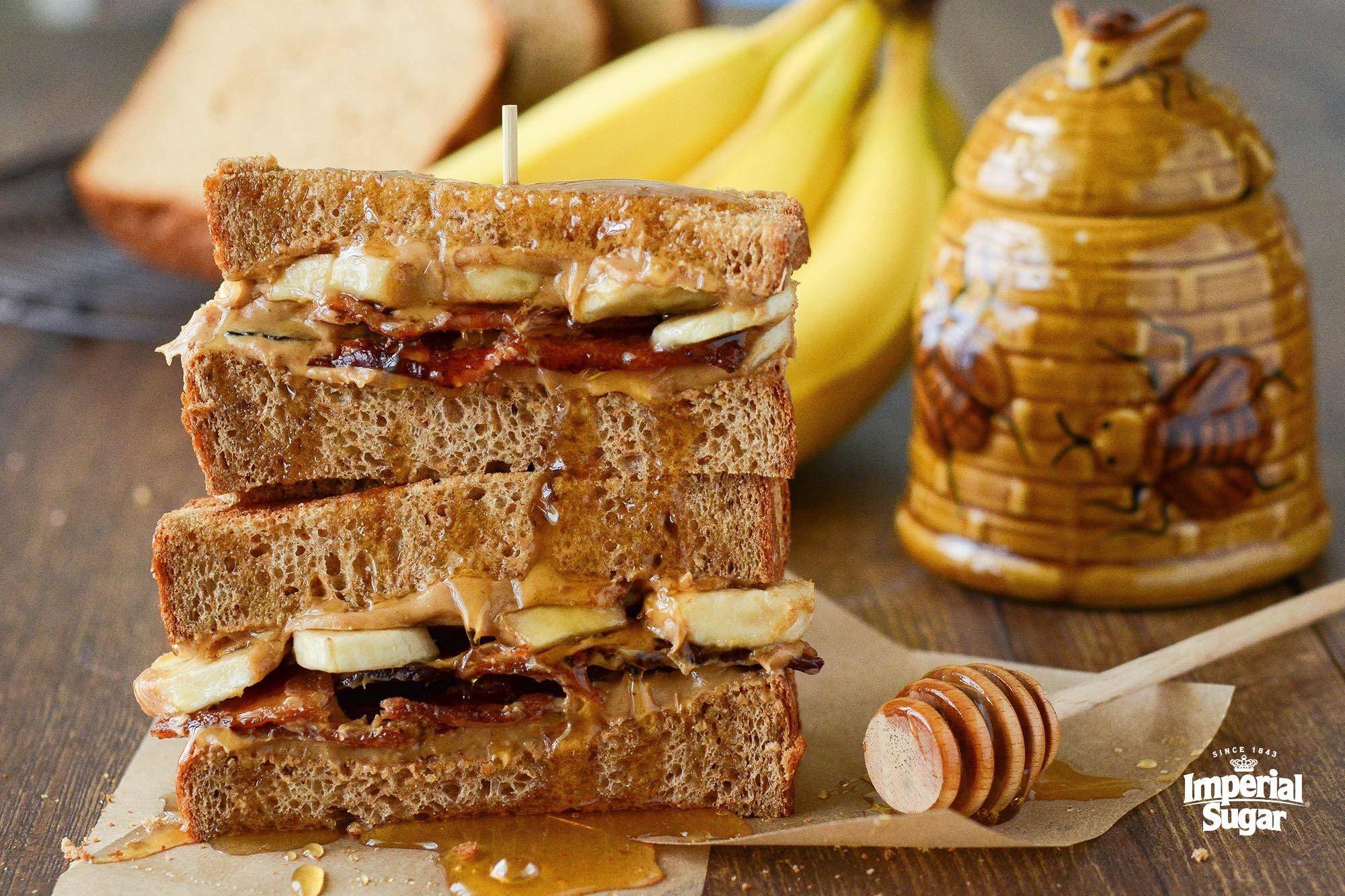 Grilled Elvis Breakfast Sandwich Imperial Sugar