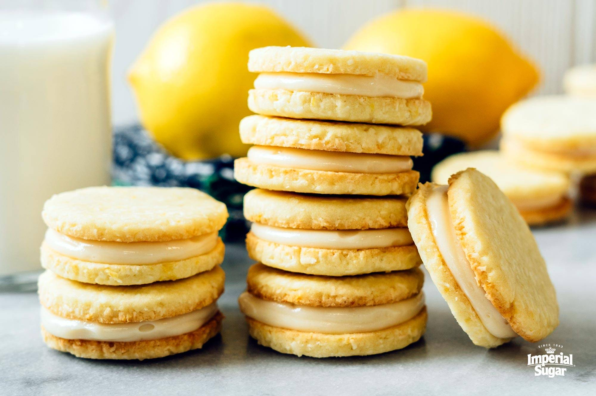 Lemon Coconut Sandwich Cookies Imperial Sugar