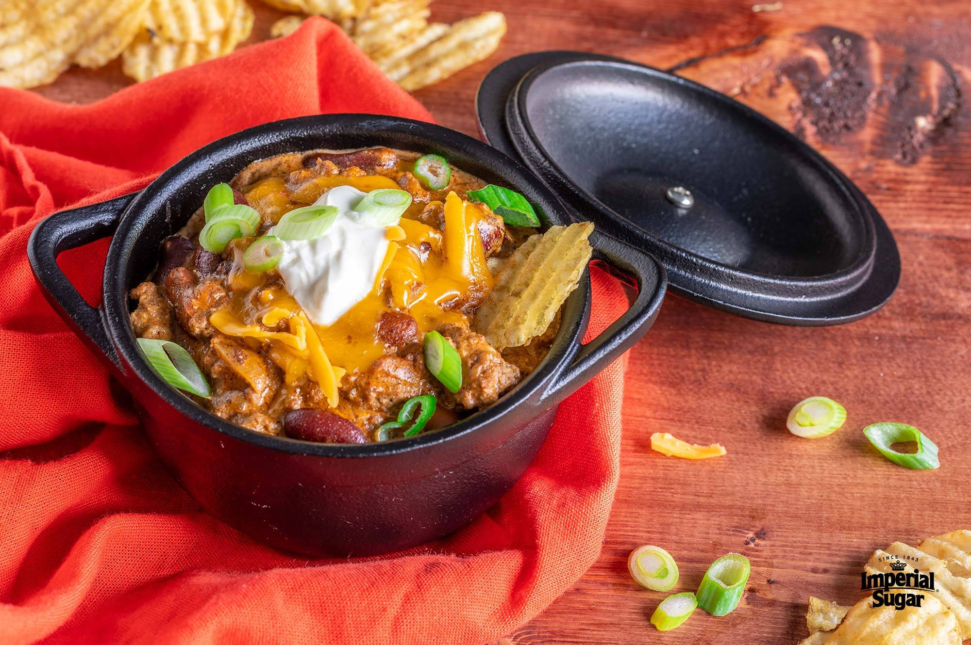 Slow Cooker Chili Cheese Burger Dip Imperial Sugar