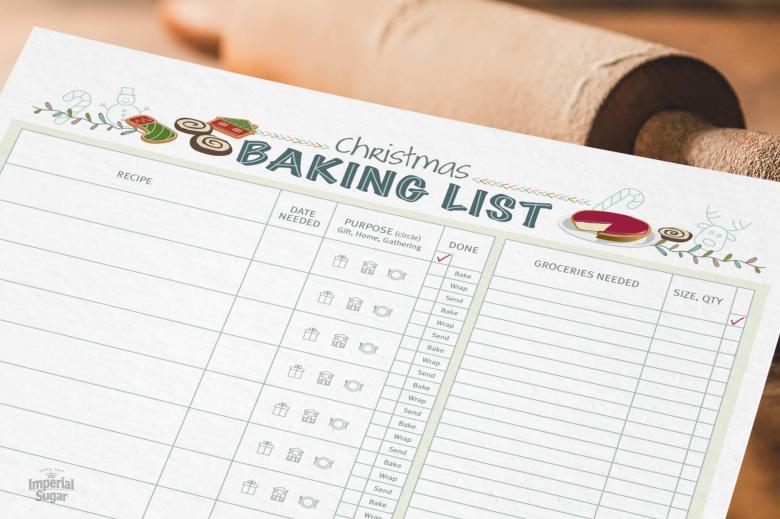 Christmas Baking Checklist Imperial Sugar