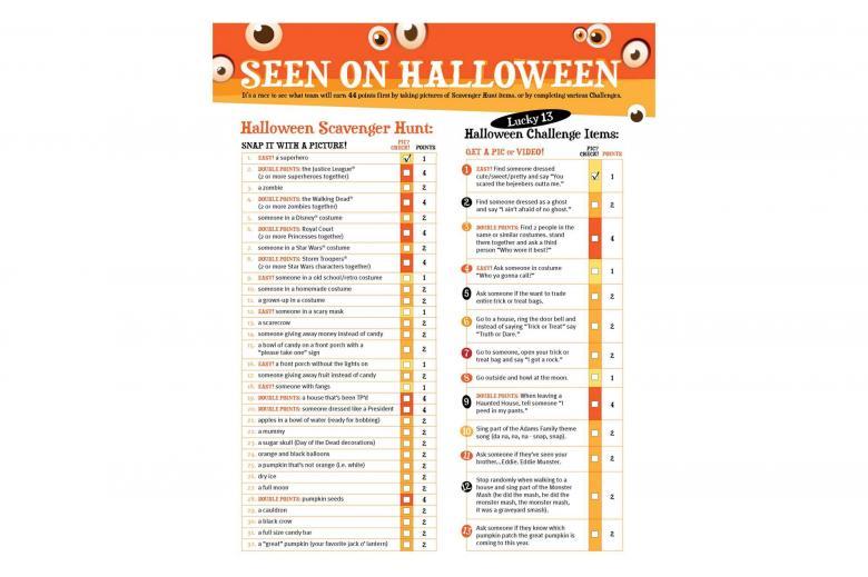 Halloween Scavenger Hunt | Imperial Sugar