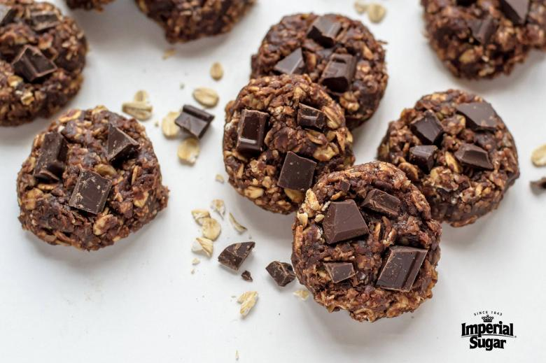 Double Chocolate Peanut Butter No Bake Cookies Imperial Sugar