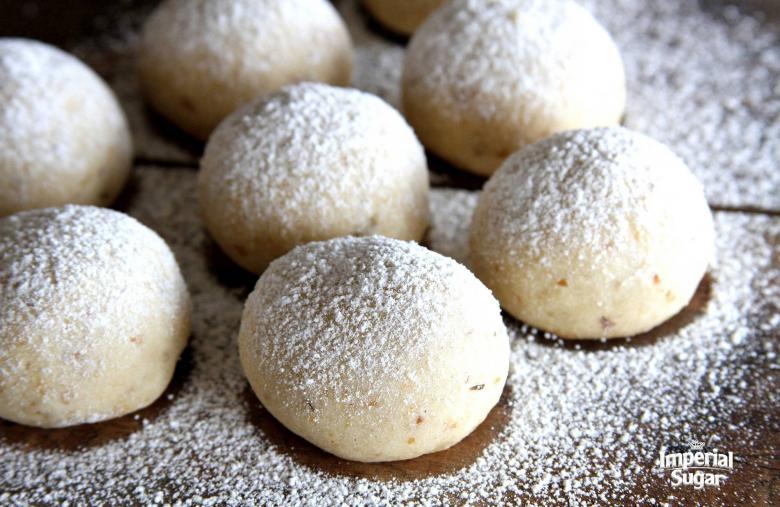 Cherry Walnut Snowball Cookies