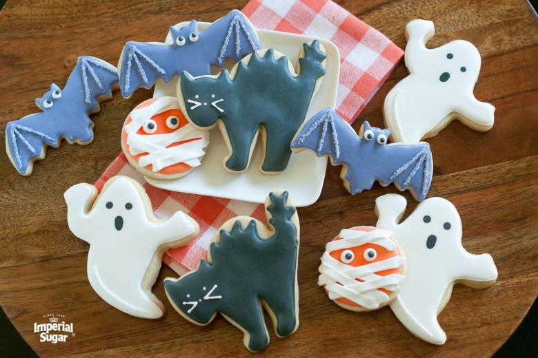 Halloween Iced Sugar Cookies.Halloween Sugar Cookies With Royal Icing Imperial Sugar
