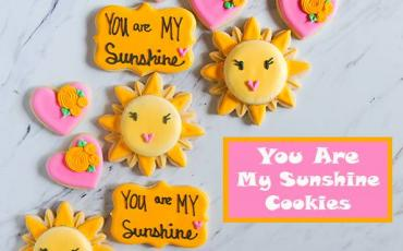 Mother's Day Sunshine Decorated Cookies