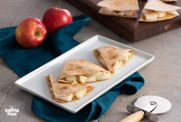 Apple White Cheddar Whole Wheat Quesadillas