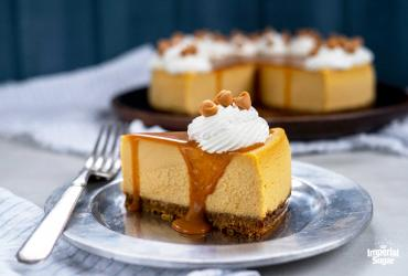 Butterscotch Cheesecake with Butterscotch Sauce
