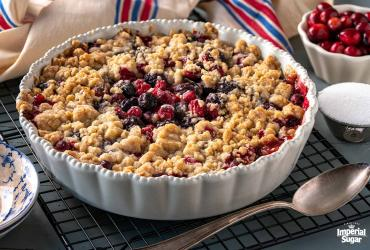 Cranberry Cherry Cobbler Pie