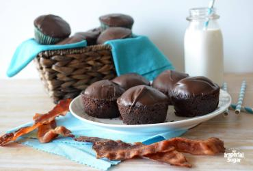 Double Choco-Bacon Muffins