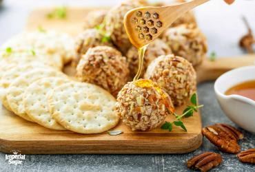 Honey Pecan Cheese Truffles