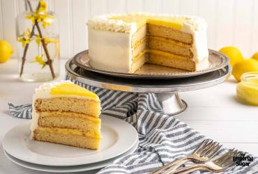 Lemon Curd Layer Cake with Cream Cheese Frosting