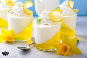 Lemon Mousse Jello Cups