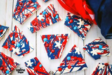 Patriotic Bark with Sugar Stars