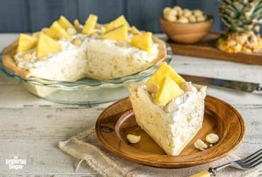 Pineapple and Macadamia Cream Cheese Pie