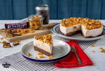 Snickers® Brownie Ice Cream Cake