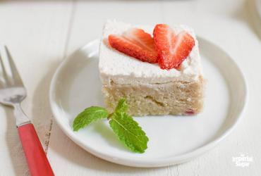 Strawberry Sheet Cake with Strawberry Whipped Cream