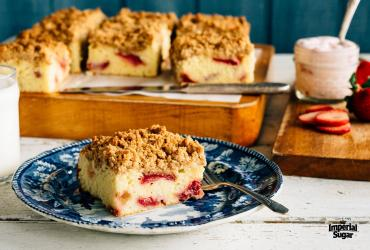 Strawberry Yogurt Crumb Cake
