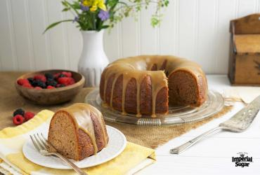 Tennessee Jam Cake with Brown Sugar Whiskey Glaze