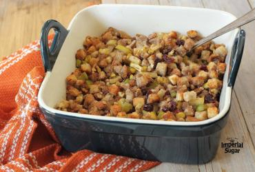 Apple Cranberry Walnut Stuffing