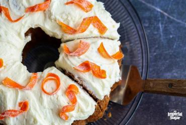 Carrot Pound Cake with Candied Carrots