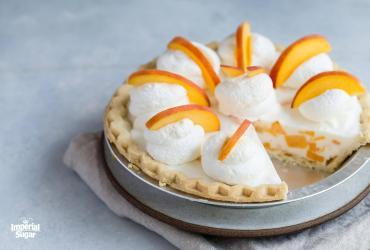 No Bake Peach Chiffon Pie