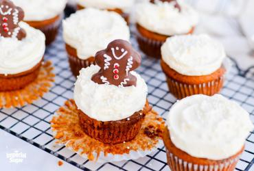Pumpkin Gingerbread Cupcakes