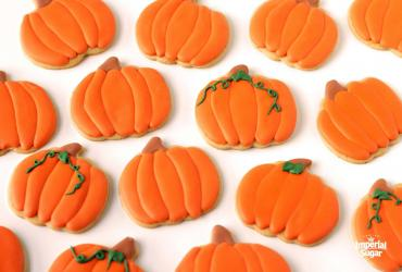 Pumpkin Spiced Cut-Out Cookies with Maple Royal Icing