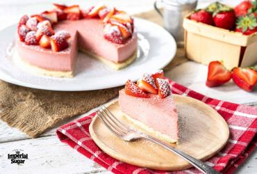 Ultra-Creamy Strawberry Cheesecake