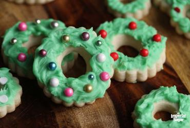 Wreath Sugar Cookies